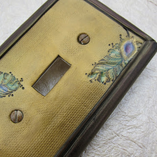Peacock Light Switch Plate Cover
