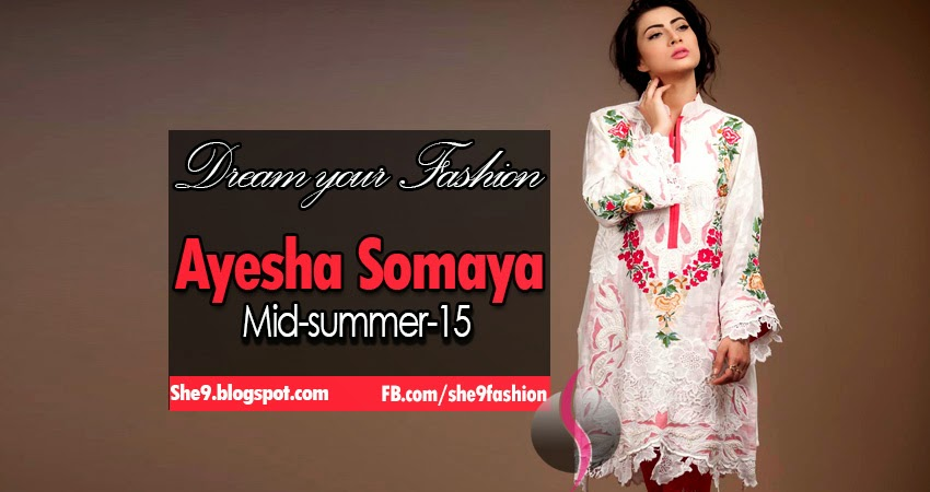Designer Ayesha Somaya Midsummer 2015