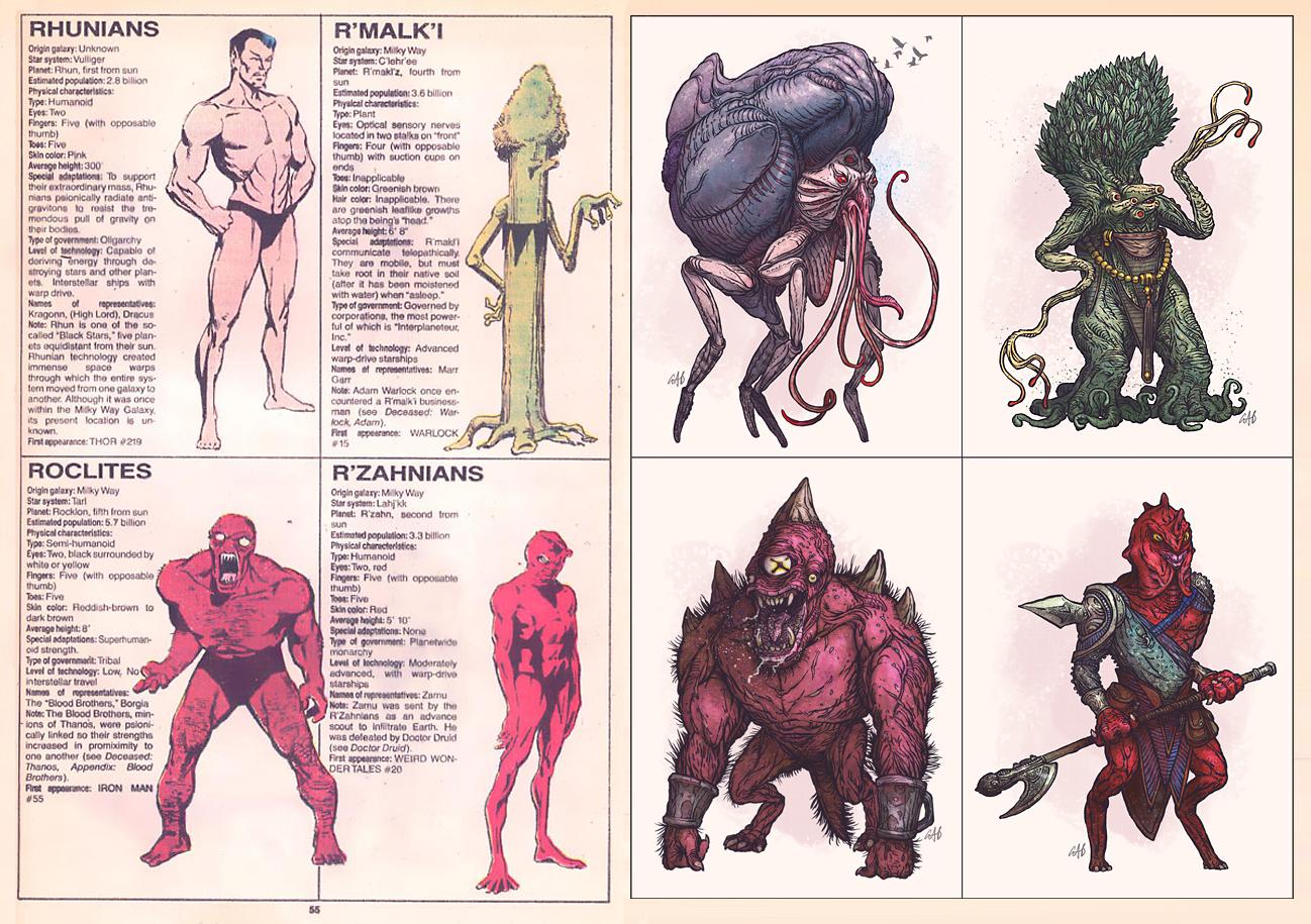 The Doodles Designs And Art Of Christopher Burdett Alien Races