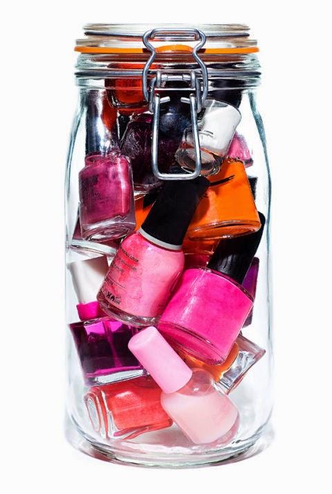 bote esmaltes de uñas