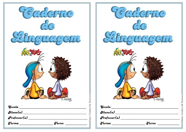 Capa de Caderno de Linguagem Mig e Meg