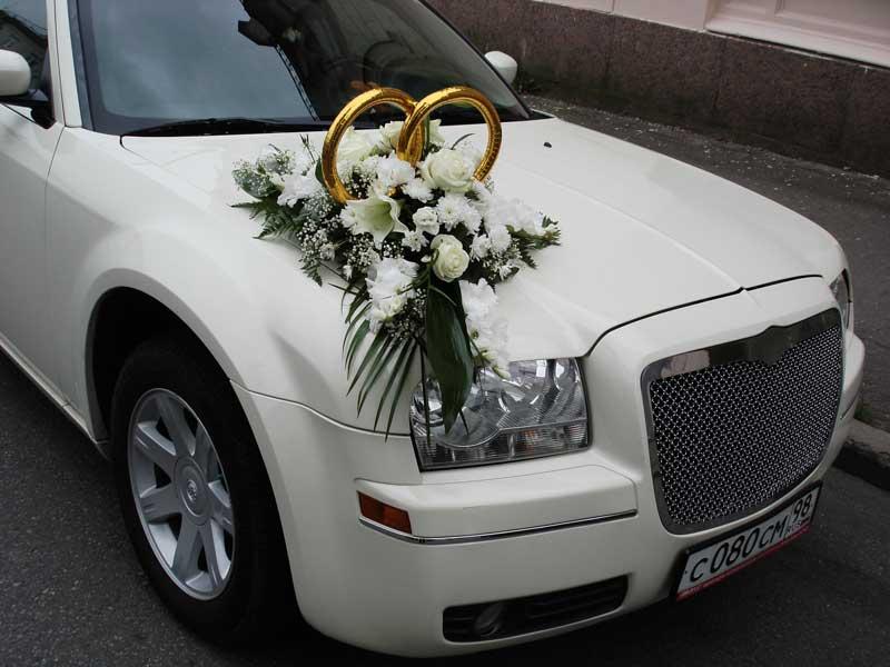 Украшение свадебной машины все фото