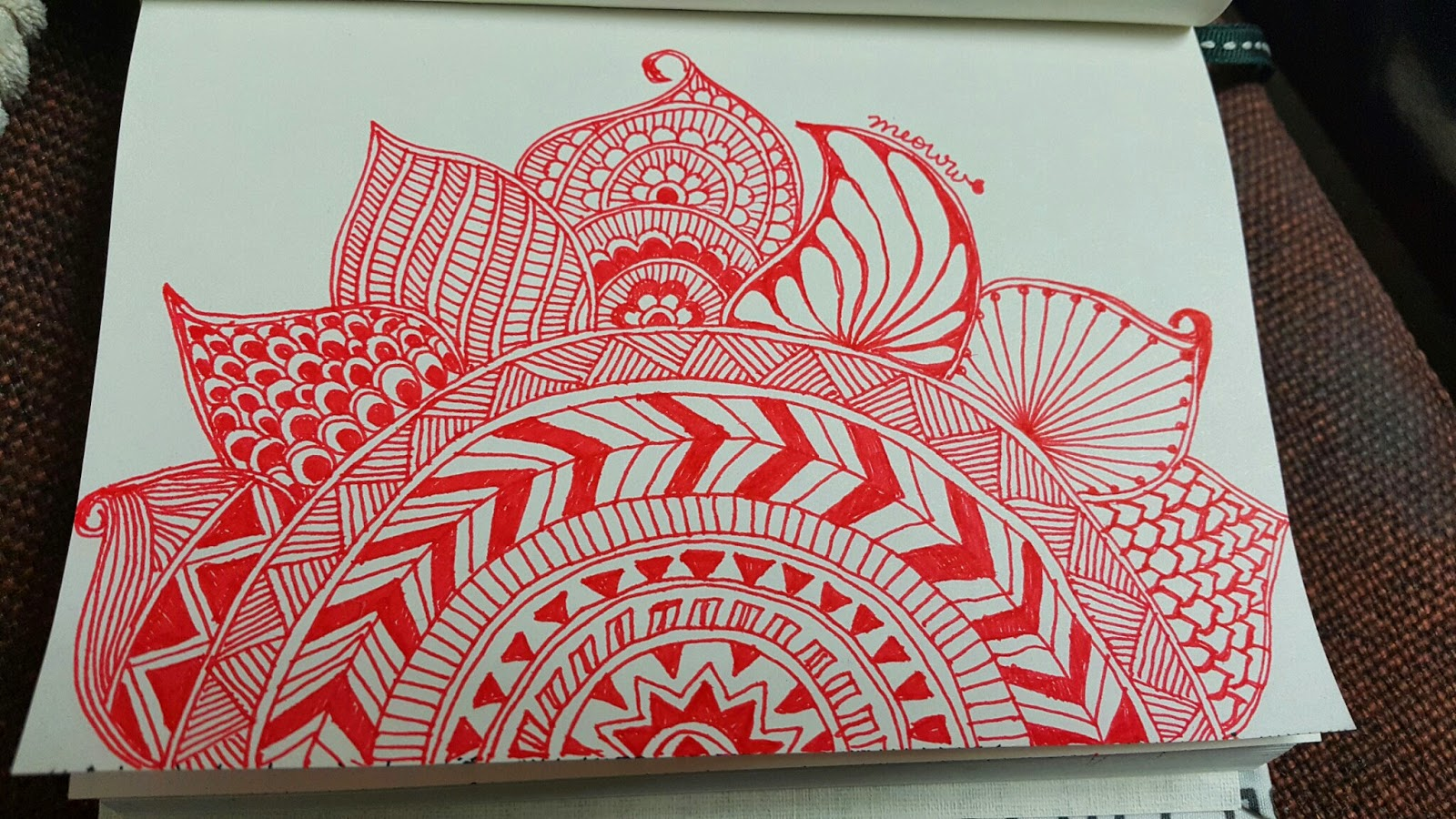 Red Doodles for the sun