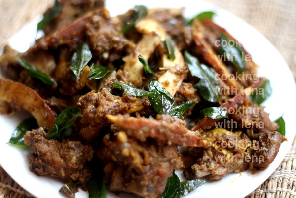 Mutton Ularthiyathu / Mutton Dry Roast
