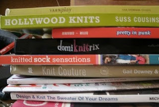 Knitting books from Book Sale