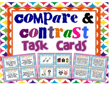http://www.teacherspayteachers.com/Product/Compare-and-Contrast-Task-Cards-Pictures-Text-Differentiated-Cards-535815