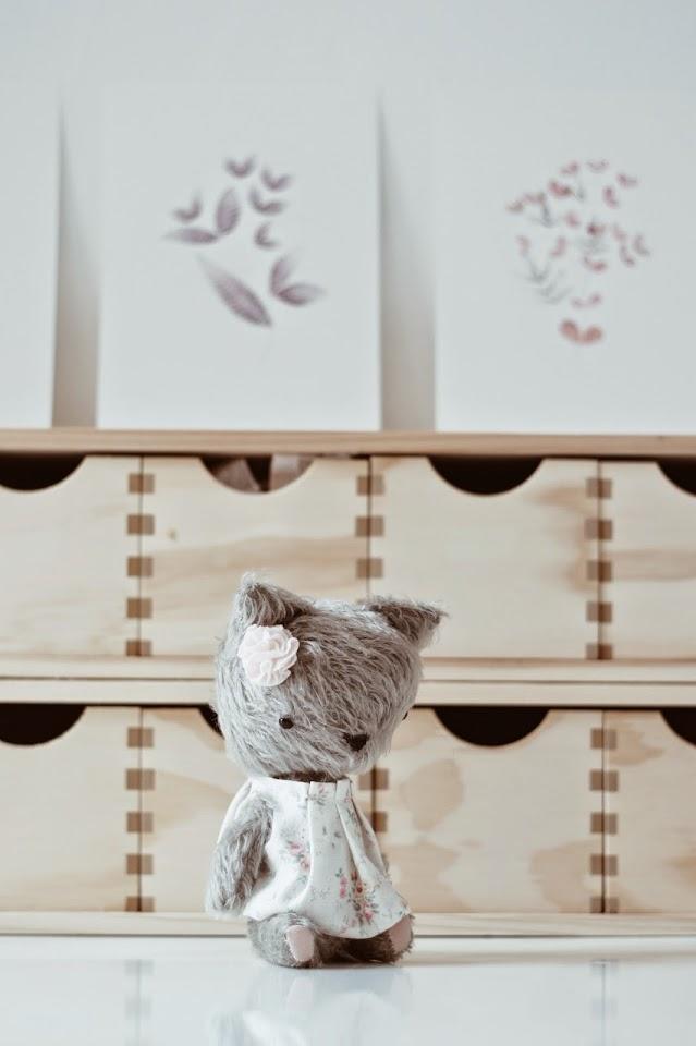 peluche con alma lelelerele, handmade, cat bear, artist bear, mohair bear