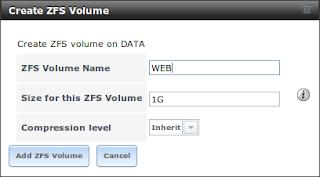 Membuat zvol ZFS di FreeNAS