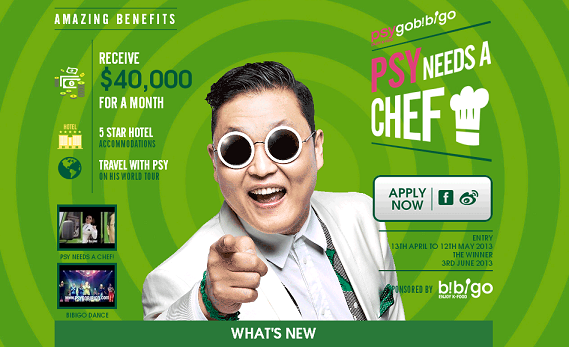 Psy Kicks Off Global Contest to Find New Personal Chef