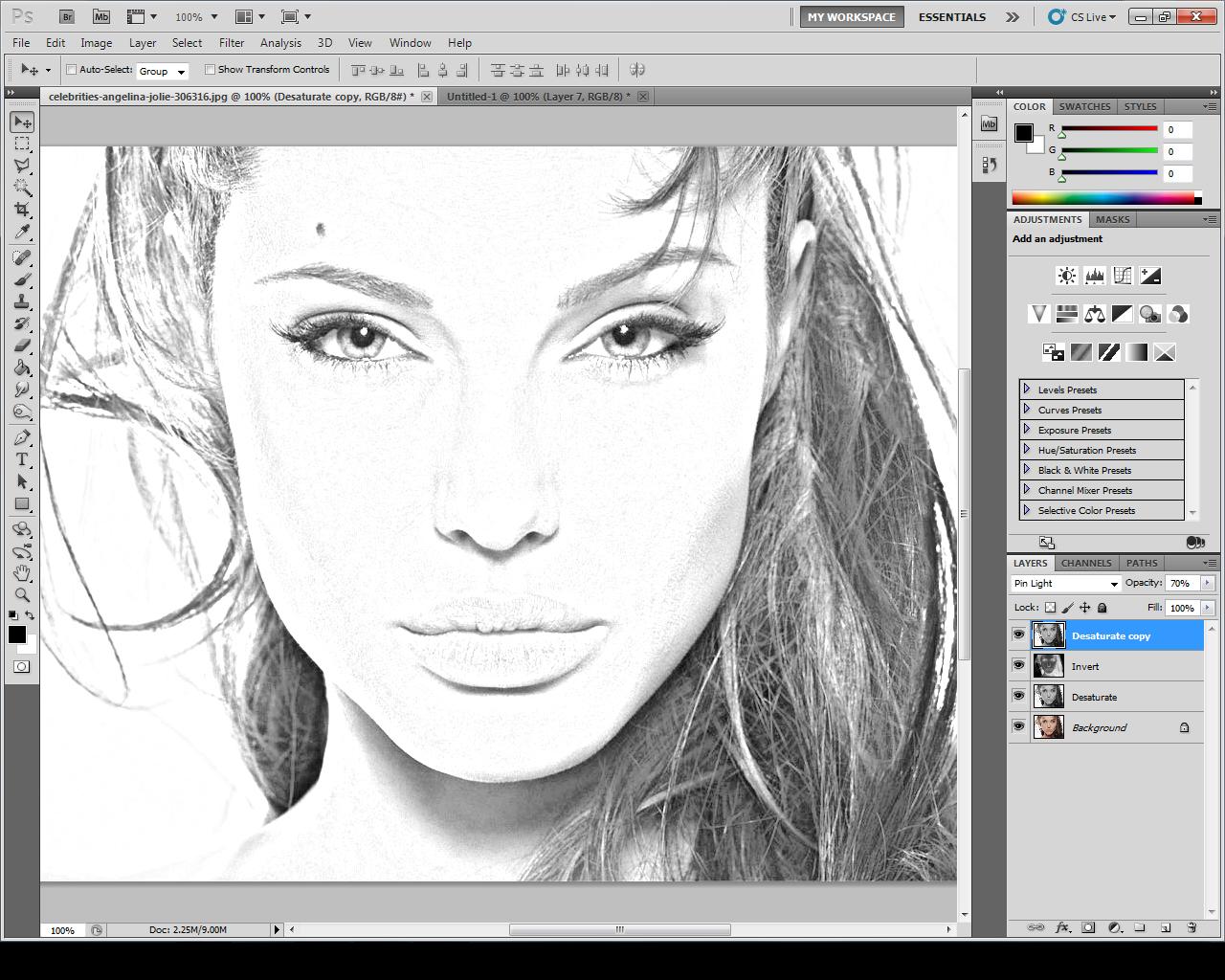 Фотошоп как сделать рисунком карандашом