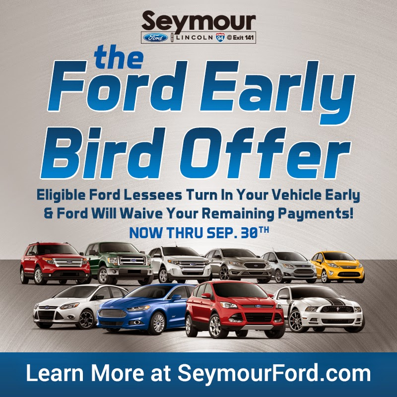 The Ford Early Bird Offer at Seymour Ford Lincoln in Jackson, MI