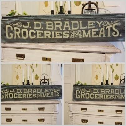 Målad Vintage skylt