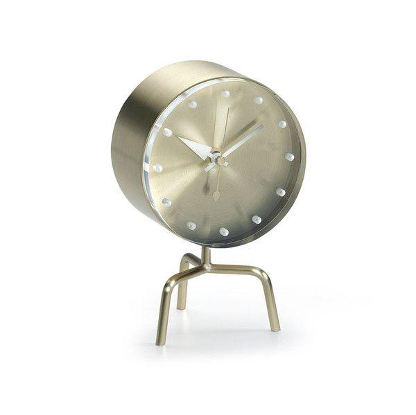 lækkert stilrent messing ur til hjemmet fra George nilson
