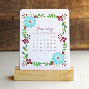 Ma Bicyclette - Buy Handmade - Calendars & Diaries - Floral