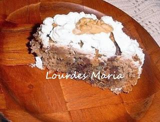 Uma delícia de torta de nozes.