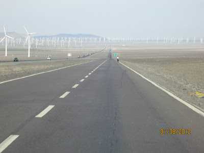Paquet d'éolienne, on traverse parfois des zones très venteuses