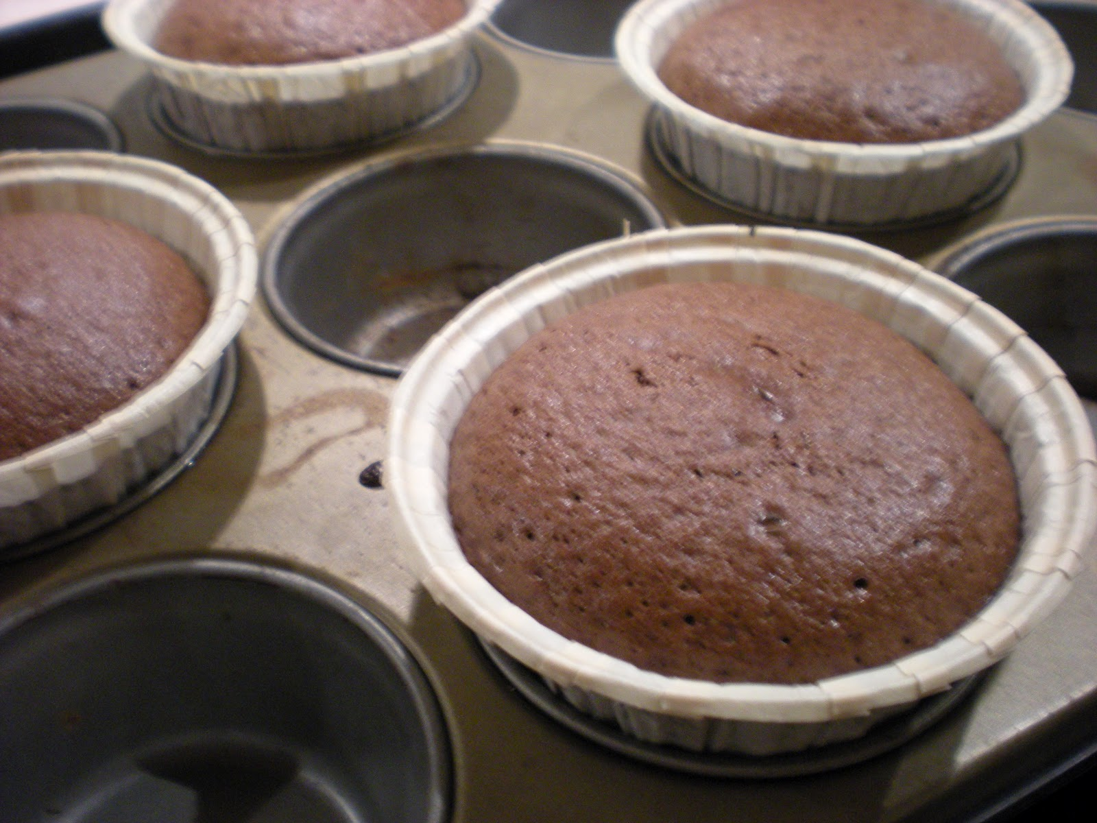 chokladfondant i muffinsform