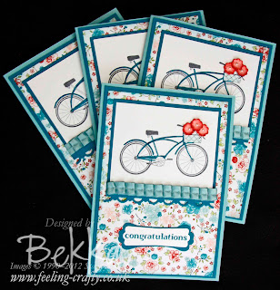 Pedal Presents Congratulations Card by Bekka www.feeling-crafty.co.uk