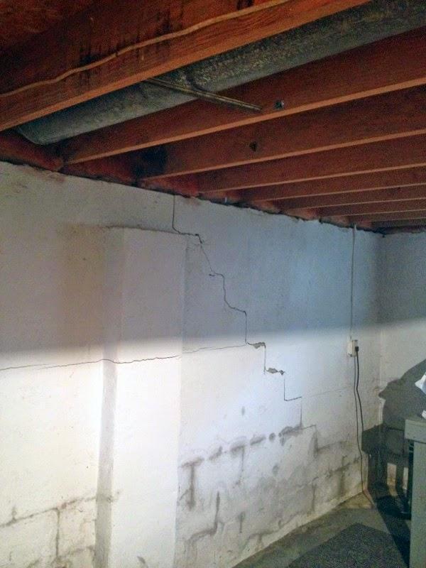 bowed cracked basement walls give dublin ohio homeowner