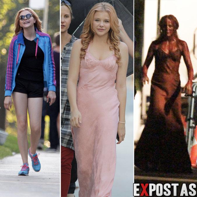 Chloe Moretz: Set de filmagens de 'Carrie' em Toronto - 24 de Agosto de 2012