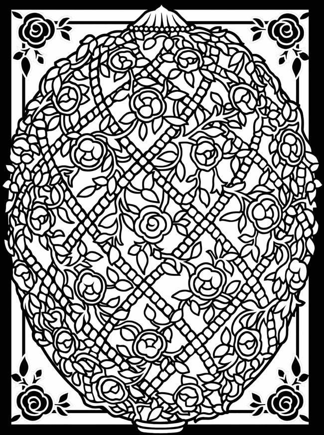 Coloring Pages For Adults Easter Eggs : Inkspired musings easy easter pretties and activities