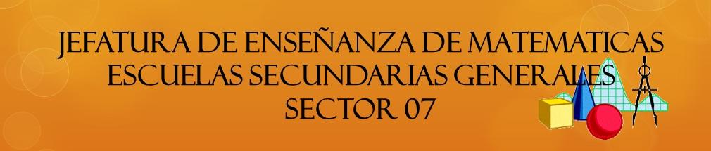 MATEMATICAS SECUNDARIAS SECTOR 07