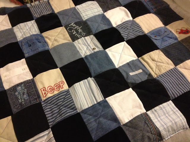 Patchwork Quilt made from Baby Clothes