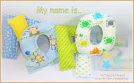 Υφασμάτινα γράμματα. My name is..