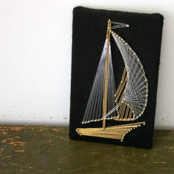 Yelkenli çivi sanatı