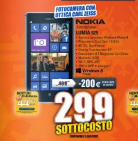 A prezzo sottocosto l'ottimo Lumia 925 con un reparto multimediale eccellente in promozione fino ai primi di dicembre 2013