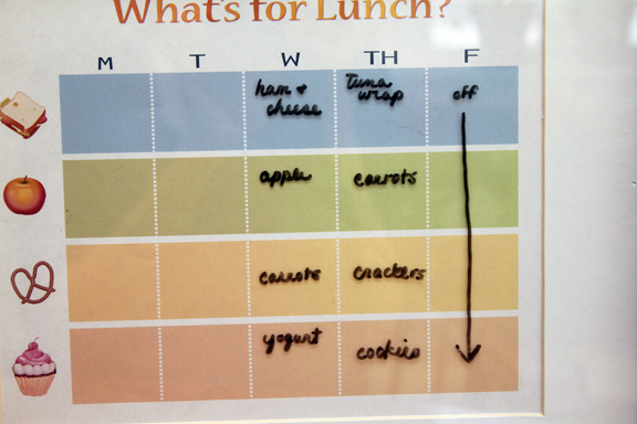 365 Days to Simplicity Dry Erase Weekly Lunch Planner
