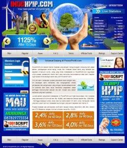 Jual Script HYIP - Investasi Indonesia Full harga Murah