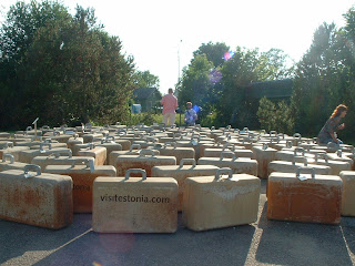 "Photo of Installation ""The Hundred Suit Cases of John Smith"" at Viinistu"