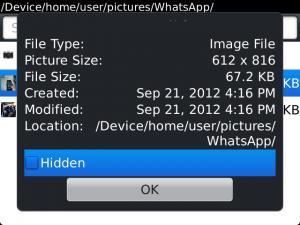 Como ver fotos ocultas en el blackberry 76