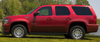 2013 Chevrolet Tahoe Hybrid Red
