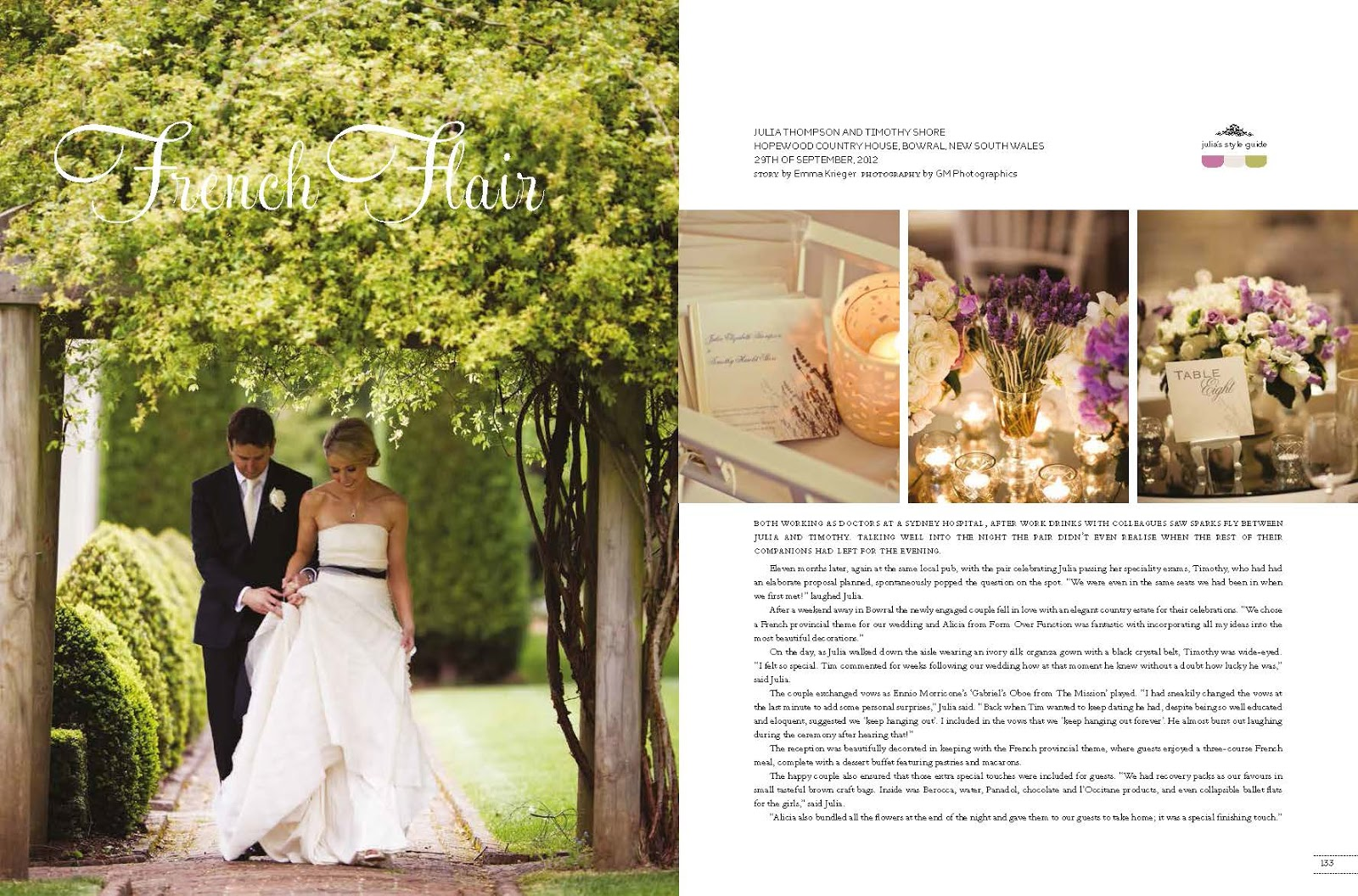 form over function featured real weddings magazine julia
