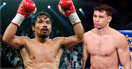 Manny Pacquiao melawan Chris Algieri, Pacquiao jatuhkan Algieri 6 kali
