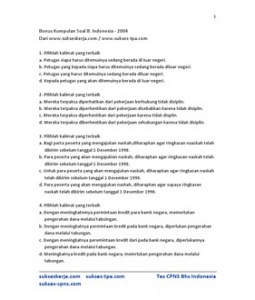Soal Test Potensi Akademin SBMPTN