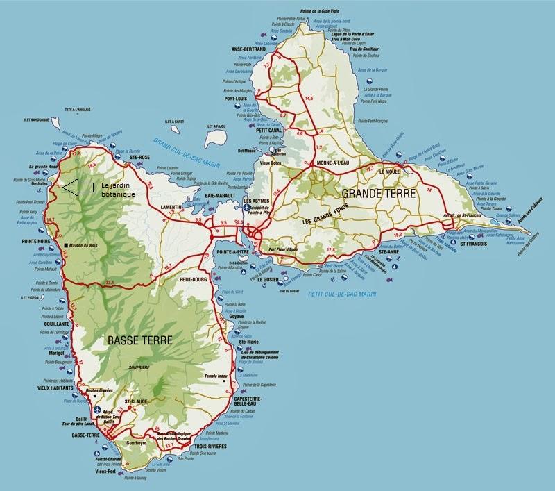 La Poupart Family en Guadeloupe: Jardin botanique de Deshaies