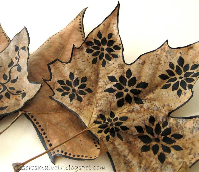 hojas-pintadas