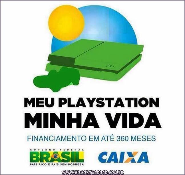 humor PS4 mil reais