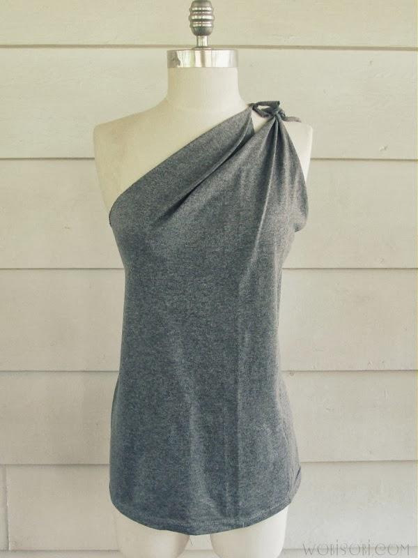 Side Tied Shirt,DIY