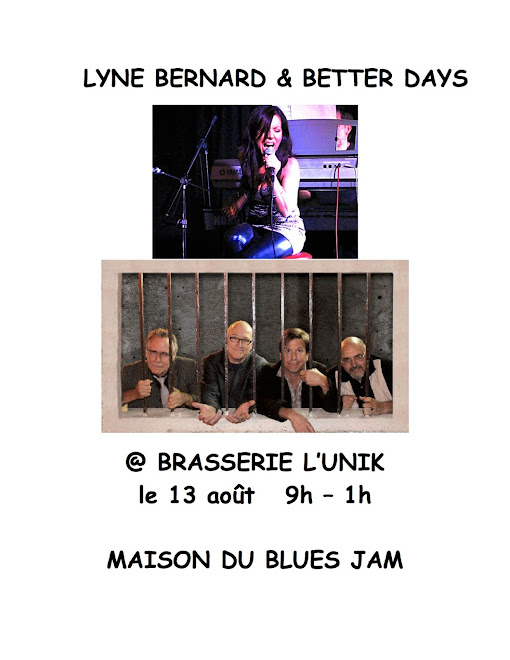 Lyne Bernard and Better Days hosting August 13