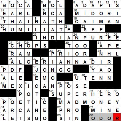 LA Times Crossword Solver 27 Feb 14 Thursday