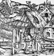 Cultivation of grain in use amongst the peasants, Lyon, 1517