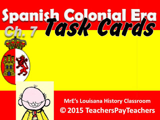 https://www.teacherspayteachers.com/Product/LUISIANA-Ch-7-Spanish-Colonial-Era-Task-Cards-2165012