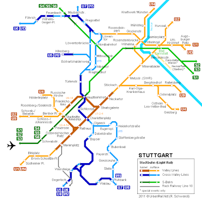 Stuttgart Metro Map Pictures