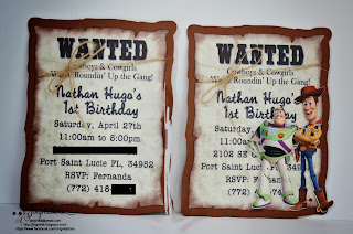 Toy Story Cowboy Buzzlight and Woody Invitations