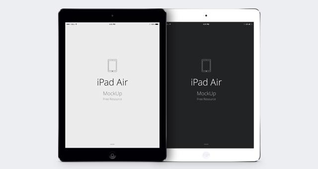 iPad Air free mockup
