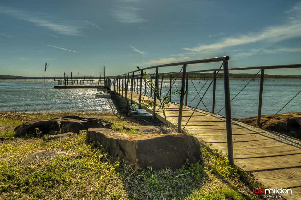 fishing dock at Dripping Springs Lake, Oklahoma